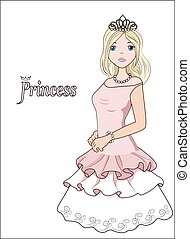 princess in a ball dress - the beautiful girl the blonde, in...