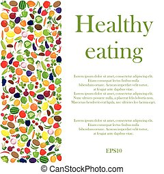 Healthy eating background - Healthy lifestyle background...