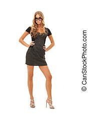 lovely woman in dress