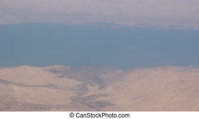the south of Israel from plane - Shot of the south of Israel...