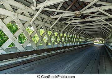 ponte,  ashuelot, coberto