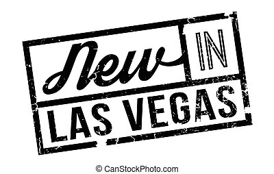 New In Las Vegas rubber stamp. Grunge design with dust...