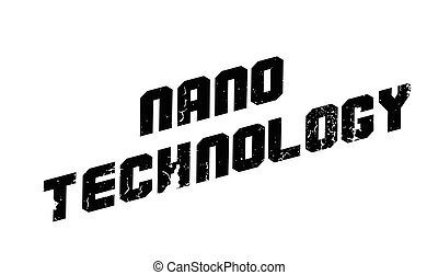 Nano technology rubber stamp. Grunge design with dust...