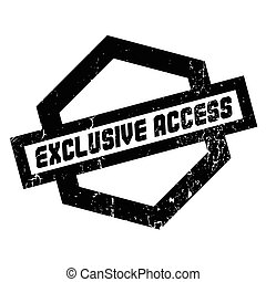 Exclusive Access rubber stamp. Grunge design with dust...