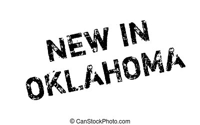 New In Oklahoma rubber stamp. Grunge design with dust...