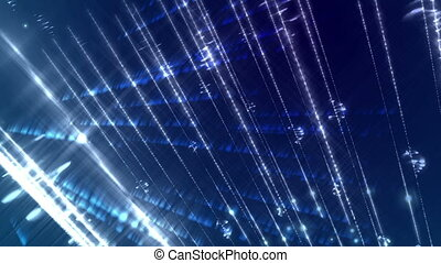 Glow light streaks on a dark blue background. - Abstract...