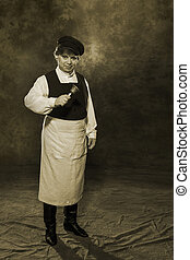 Russian janitor of the 19th century - Portrait of a 19th...