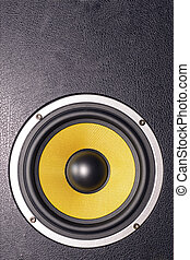 Woofer Loudspeaker Yellow - Details of loudspeaker woofer,...