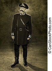 Russian policeman of the 19th century in everyday form