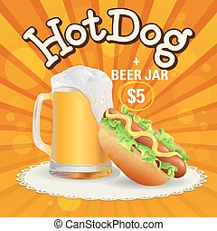 Beer and hot dog offer
