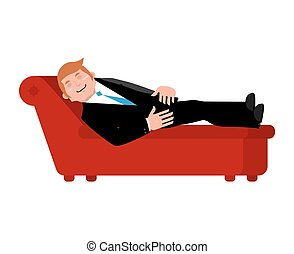 Patient on psychologists couch is isolated. Relaxed...