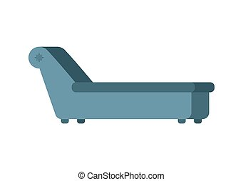 Psychologist couch isolated. Psychotherapist furniture for patients