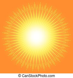 Orange abstract background with star burst concept