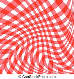 Two tone red stripes curve abstract pattern background...