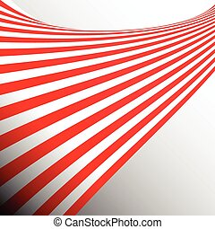 Two tone red stripes ribbon abstract background concept