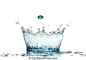 drop water on a white background