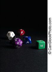Dungeons and Dragons Dice - Multi-sided dice used for...