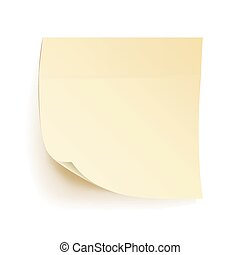 Paper Work Notes Isolated Vector. Blank Sticky Notes....