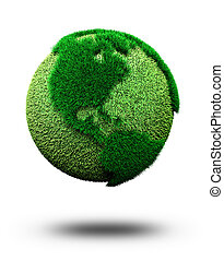 green earth concept; 3d render