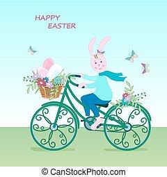 Cute Easter card bunny