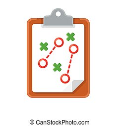 plan tactic iconplan tactic icon on white background. Vector...