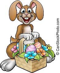 Easter Bunny Cartoon Character - Cartoon Easter Bunny on an...