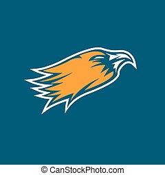 eagle head sport mascot vector design template