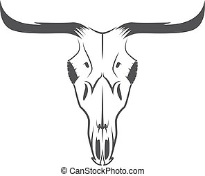 abstract texas cow skull vector design template