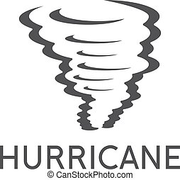 vector design template of the abstract hurricane