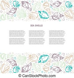 Sea shells background - Vector Background with seashells....