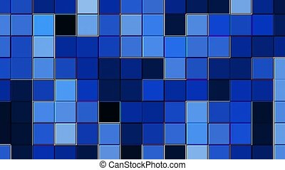 Abstract changing squares in blue color