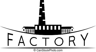 vector design template of the old factory