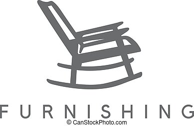 vector design template of abstract rocking chair