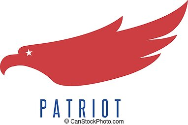 vector design template of abstract patriotic eagle