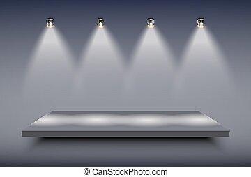 Black Presentation platform - Light box with black...