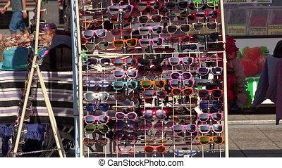 Shop with sunglasses. 4K. - Shop with sunglasses. Shot in 4K...