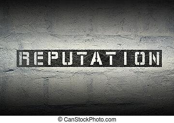 reputation word gr - reputation stencil print on the grunge...
