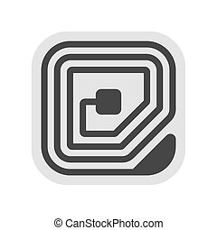 Radio Frequency Identification RFID Tag Icon. Vector