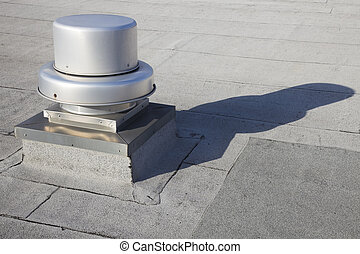 Vent on the roof of the building