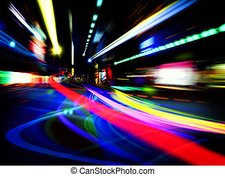 abstract city lights - abstract image with blured  lights