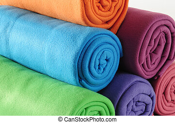 Blanket. - Blanket roll.