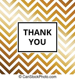 Thank you - greeting card golden background vector - Thank...