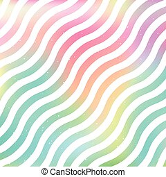 Wavy rainbow blur background vector - Wavy blurred rainbow...