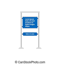Road information sign - Road blue information sign on white...