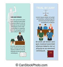 Jury and order concept flyers design - Jury and order...