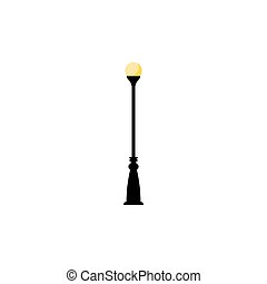 Vintage streetlight symbol. Vector retro object with one...