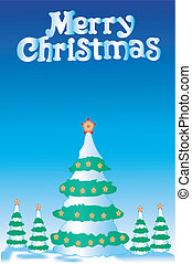 Christmas fur-tree - Greater christmas fur-tree and 4 small...