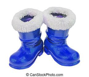 azul, Claus, Santo, zapatos, botas, botas, Plano de fondo,...