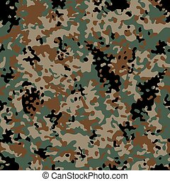 Woodland Flectarn Camouflage seamless patterns - Classic...