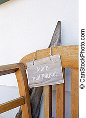 German sign that says make a break